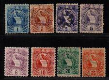 $Guatemala Sc#43-50 used, F-VF, complete set, 43 mint, Cv. $38.50