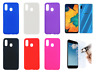 "Case Cover Gel TPU Silicone Samsung Galaxy A40 (4G) 5.9"" + Optional Protector"