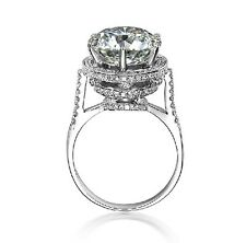 5CT Vintage Solid 14K White Gold Diamond Women Anniversary Ring Express Shipping