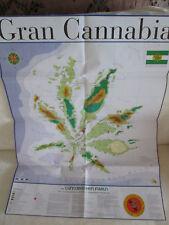 POSTER Grand cannabias Île-carte Taille du papier: 80 cm x 60 cm