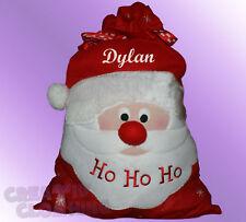 Christmas Santa Sack Personalised with Name - Kids Present - Xmas Stockings