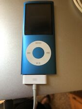 Apple iPod nano 4th Generation Blue (8 GB) Bundle Great Condition With Jacket