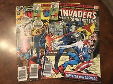 Lot of 3 Marvel The Invaders #31 32 33 comic books bronze age
