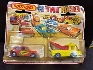 Matchbox  Tp-6 Breakdown Truck And Mini 1975