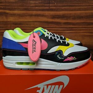 Nike Air Max 1 Men's 10 Hyper Pink 90s Water Sports multicolor shoes CZ7920-001