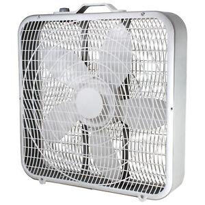 """Comfort Zone CZ200A 20"""" 3-Speed Box Fan"""