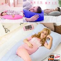 C or U Shape Full Body Maternity Pillow Case Sleeping Support for Pregnant Women