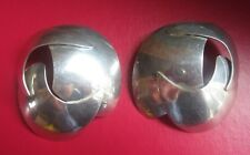 Vintage LARGE ABSTRACT JONES NEW YORK STERLING SILVER EARRINGS Modernist Art JNY