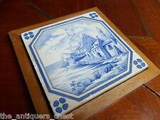 Old blue delft tile framed