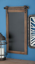 "Chalkboard Wood And Metal 28"" x 16"" Wall Mount Industrial Rusted Rectangular"