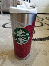 Starbucks Stainless Steel Flowers Travel Mug Tumbler 16 oz.