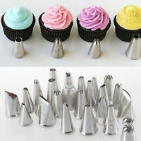 Sugarcraft 24Pcs Icing Piping Nozzles Tips Pastry Cake Cupcake Decor Bake Tool