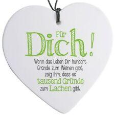 """Herz mit Spruch """"Für Dich! ..."""" - H 14 cm"""