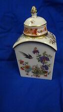 >> Meissen Teedose wunderschön Dose Blumendekor mit Vogel 1 Wahl >>