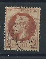 France N° 26A Obl (FU) 1862 - Napoléon III lauré