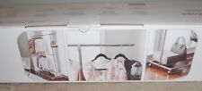 Seville Classics Rolling Garment Rack- 2 Adjustable Rods - Bottom Storage Area