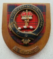 More details for robertson  'clan'  shield  <>  vintage  shield  <>  used  condition