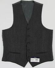 Men's Ralph Lauren Charcoal Gray Grey Wool Suit Dress Vest 44r 44 Regular