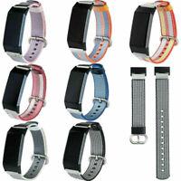 Für Fitbit Charge 3 Uhr Watch Ersatzband Uhrenarmband Woven Nylon Armband Strap