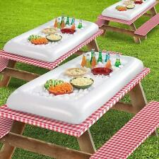 2 Inflatable Salad Bar Party Buffet Cooler Pool Ice Chest Beer Food Parkland