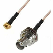 RF pigtail cable BNC female to MCX male right angle RG316 30CM