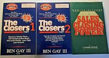 THE CLOSERS Parts 1 and 2 Books and SALES CLOSING POWER 3 Book Set Ben Gay III