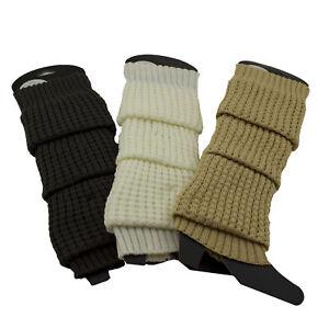 Warm Winter Boot Leg Warmers Knit Crochet Thigh High Over Knee Socks