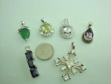 sterling silver pendants 6 total