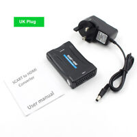 1080P SCART to HDMI Composite Video Audio Converter Adapter For TV Box DVD