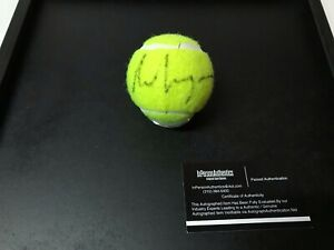 ANDRE AGASSI AUTOGRAPHED SIGNED IN BLACK INK FRANKLIN TENNIS BALL W/COA