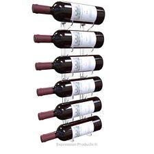 Wall Mounted Acrylic Wine Bottle Rack, Holder, Storage For Up To Six Bottles