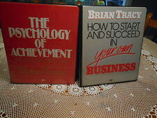 Brian Tracy Psychology of Achievement & How to Start & Succeed Audio Cassettes