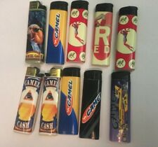 Lot Of 10 Camel Cricket Bic Vintage Lighters Tested And Working