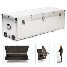 Aluminium Flight Case Box Wheels Storage Trolly Padded Lighting DJ 100x37x34cm