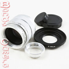 "35mm F/1.7 C mount 2/3"" CCTV lens body 12 blades silver for Micro 4/3 M4/3 E-PL5"