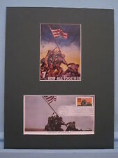 US Marines Raise the Flag on Iwo Jima & First Day Cover