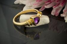 Schmuck Amethyst Ring in besonderen Design 750er Gelbgold 18 Karat Neu