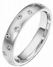 14K WHITE GOLD ANNIVERSARY WOMENS DIAMOND WEDDING BAND LADIES RING  5MM