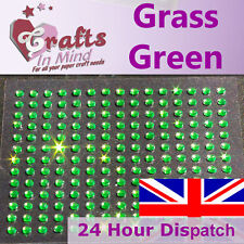 195 x 3mm Verde erba strass GEMS e Diamonte