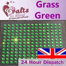 195 x 3mm Grass Green Rhinestone Diamante Gems Diamonte