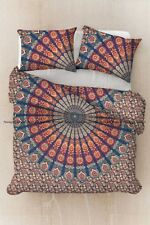 Indian cotton mandala peacock duvet cover bohemian comforter cover quilts cover