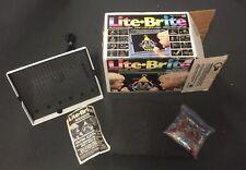 Vintage 1986 Milton Bradley Lite Brite Light Bright w/  Box Pegs & Sheets