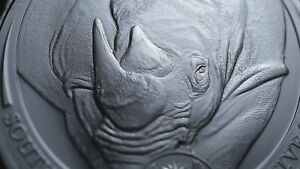 2020 RHINO SOUTH AFRICA BIG FIVE 1 OZ SILVER COIN BU