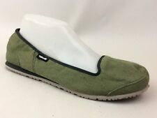 Teva Mush Shoes Ballet Flats Slip On Green Womens 10 Med Casual Comfort Canvas
