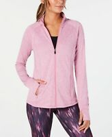 Ideology Womens Running Fitness Athletic Jacket Rose Shadow