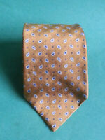 Lauren Ralph Lauren Men Dress Silk Tie Brown Blue