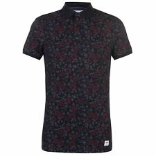 Mens SoulCal Floral Polo Shirt Slim Fit Short Sleeve New