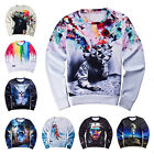 Men Womens 3D Print Animals Hoodie Sweatshirt Galaxy Tops Graphic Tee Pullover