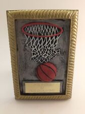 Basketball Picture Frame Trophy! Free Engraving! Ships In 1 Business Day!