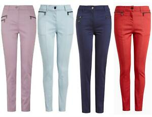 Soft Touch Womens Slim Skinny Jeans Trousers Pale Blue Beige Size 16 18 20 Long